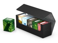 Ultimate Guard - Черная кожаная коробочка для хранения 400+ карт