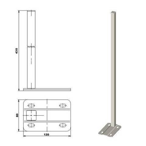 Стойка напольная ТВЕК.13.01.new - 430 мм (для радиаторов 200 и 350 мм)