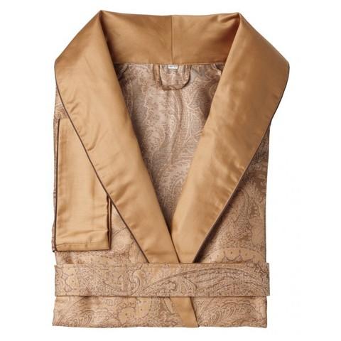 Элитный халат сатиновый Katharina темно-желтый от Curt Bauer
