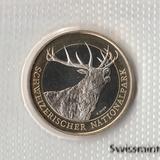 P2918, 2009, Швейцария, 10 франков UNC в родной запайке, Олень