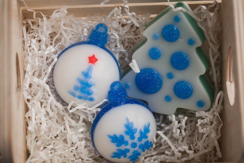 Форма для изготовления мыла Елка с шарами