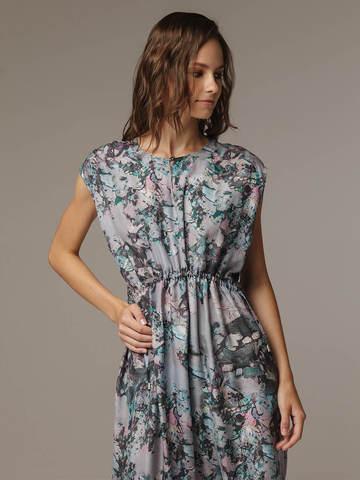 Женское принтованное платье из 100% шелка - фото 2