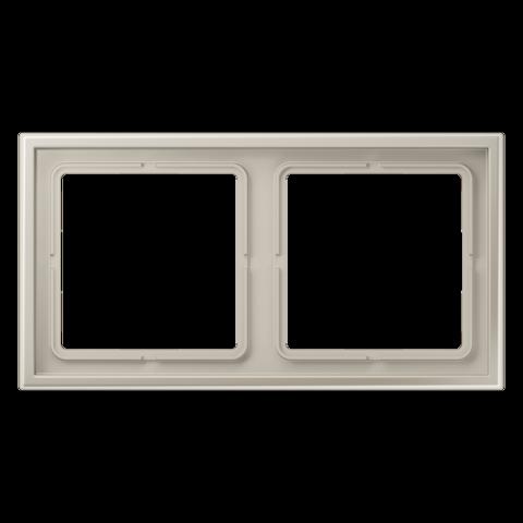 Рамка на 2 поста. Цвет Нержавеющая сталь. JUNG LS ZERO. LSZES982BF