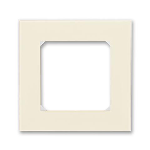 Рамка на 1 пост. Цвет Слоновая кость / белый. ABB. Levit(Левит). 2CHH015010A6017