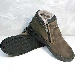 Натуральные кожаные мужские ботинки зимние Rifellini Rovigo 046 Brown Black.