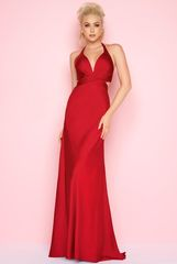 Mac Duggal 16206 платье длинное и облегающее фигуру, цвет:бордо, однотонное