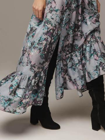 Женское принтованное платье из 100% шелка - фото 4