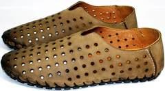 Кожаные летние туфли мужские Luciano Bellini 107703 Beige.