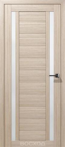 Дверь Восход Гамма, стекло сатин, цвет лиственница амурская, остекленная