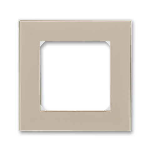 Рамка на 1 пост. Цвет Кофе макиато / белый. ABB. Levit(Левит). 2CHH015010A6018