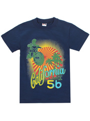 1178-15 футболка детская, темно-синяя