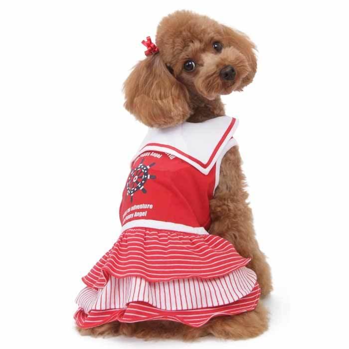 платье для собак морячка