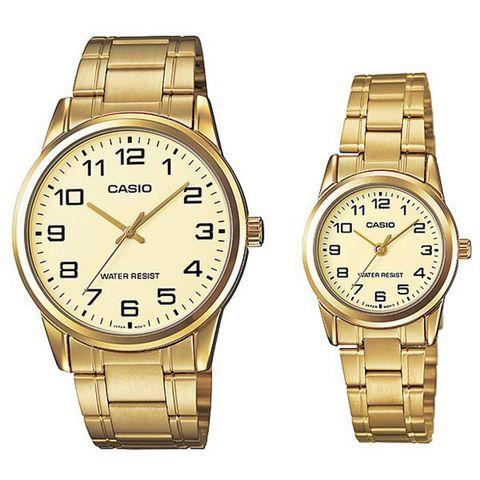 Купить Парные часы Casio Standard: MTP-V001G-9BUDF и LTP-V001G-9BUDF по доступной цене