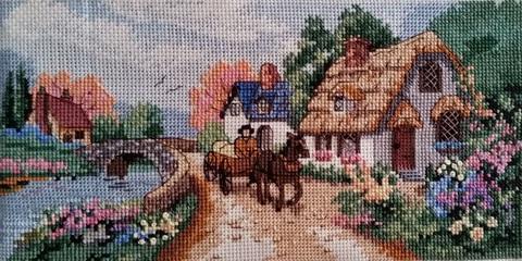 Набор для вышивания. Тихая деревня. Village Serene. Арт. 6831