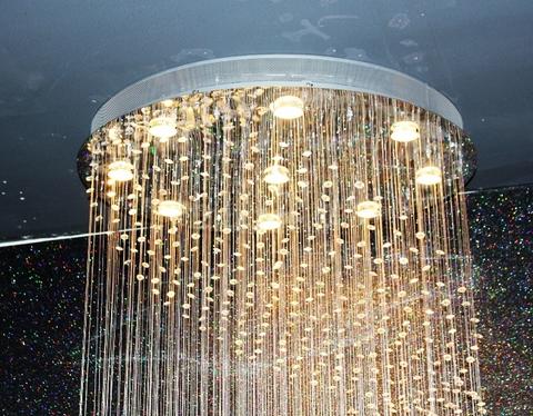 cristal  cascade chandelier  11-09  by Cristallino
