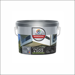 Краска в/д для фасадов и цоколей Dufa Profilux Professional FACADE & SOCLE База 3 (Прозрачный)