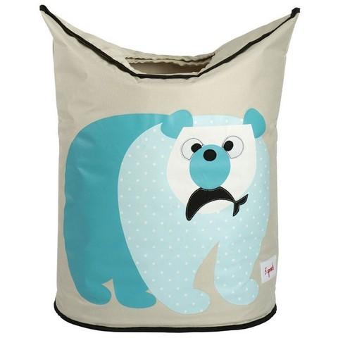 Корзина для белья 3 Sprouts Полярный мишка (Polar Bear)