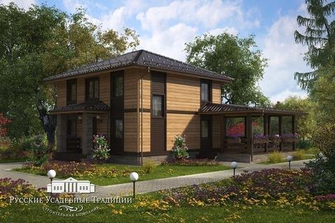 """Двухэтажный дом """"Марсель"""" 154 кв.м. из СИП панелей с террасой"""