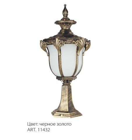 Светильник садово-парковый, 60W 230V E27 IP44 черное золото, PL4053 (Feron)
