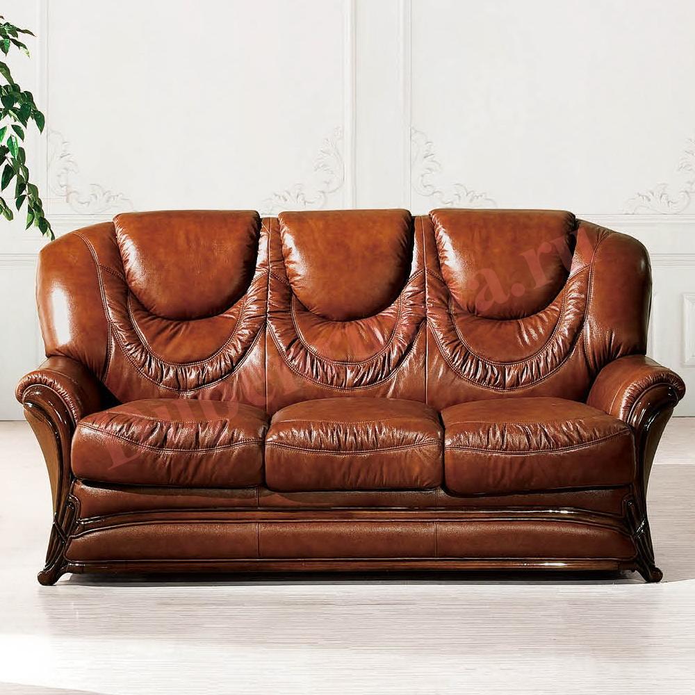 Диван-кровать ESFA67 3-х местный коричневый