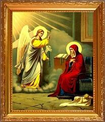 Благовещение Пресвятой Богородицы. Икона на холсте.