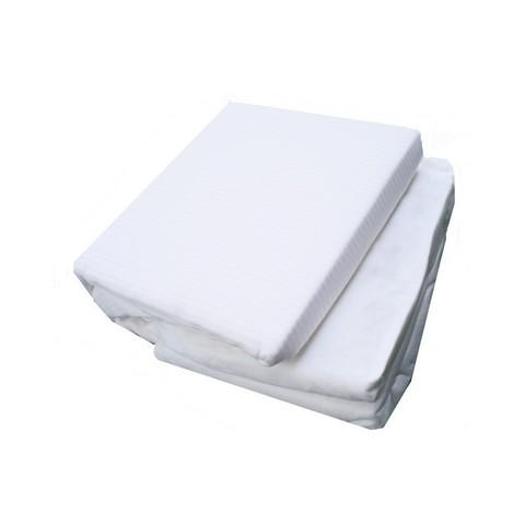 Постельное белье 2 спальное евро макси Caleffi Tinta Unita Cotone белое