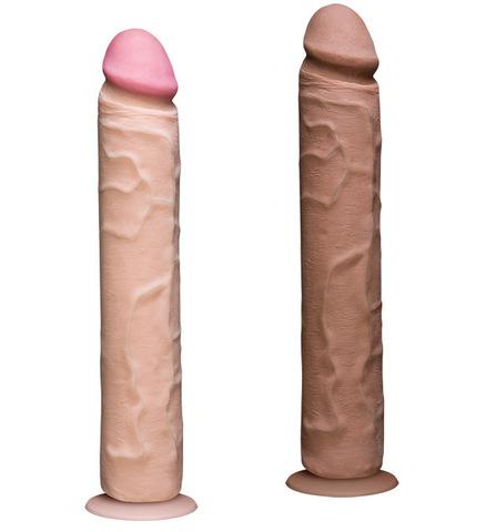 """Фаллоимитатор реалистик на присоске 12"""" Vac-U-Lock UR3 (5,1 х 30 см)"""