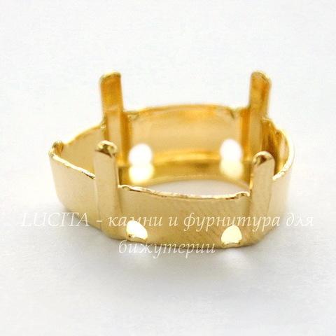 4320/S Сеттинг - основа Сваровски для страза Капля 18х13 мм (цвет - золото)