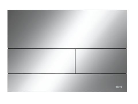 Металлическая панель смыва унитаза TECEsquare II для системы с двойным смывом