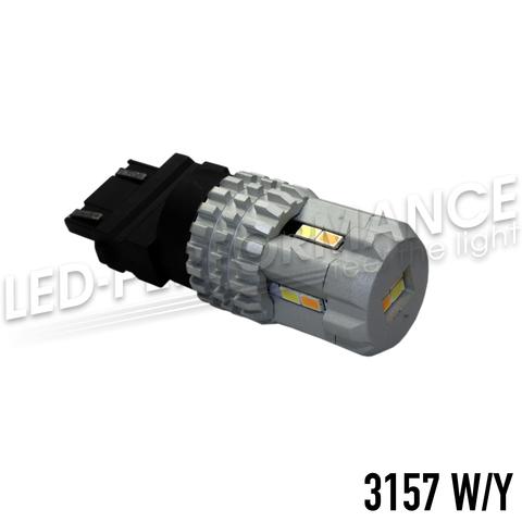 Светодиодная двухцветная лампа 3157 P27/7W W2,5x16q