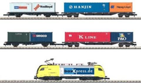 Электровоз и 4 контейнерных вагона MARKLIN 81432