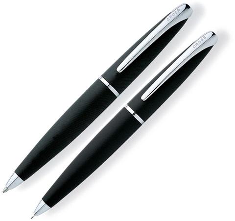 Набор Cross ATX: шариковая ручка и механический карандаш 0.7мм. Цвет - черный.