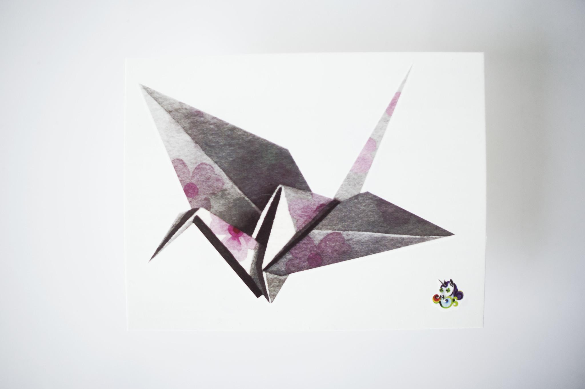 Переводная татуировка Origami