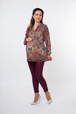 Блузка для беременных и кормящих 01377 цветной