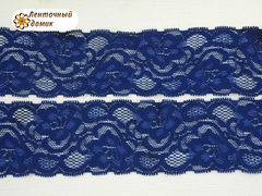 Кружево эластичное темно-синие 50 мм
