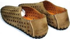 Красивые модные туфли мужские Luciano Bellini 107703 Beige.