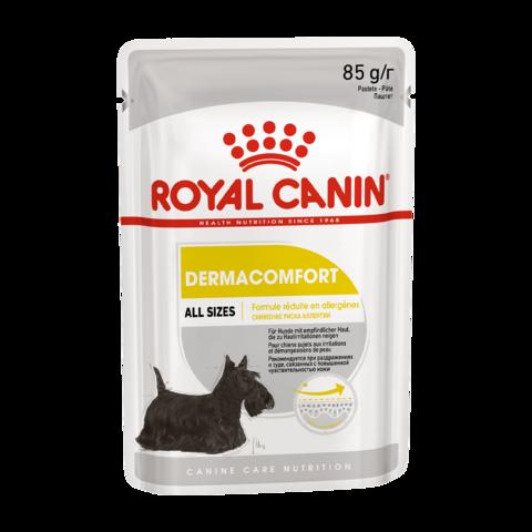 Royal Canin Dermacomfort Консервы для взрослых собак с чувствительной кожей, Паштет