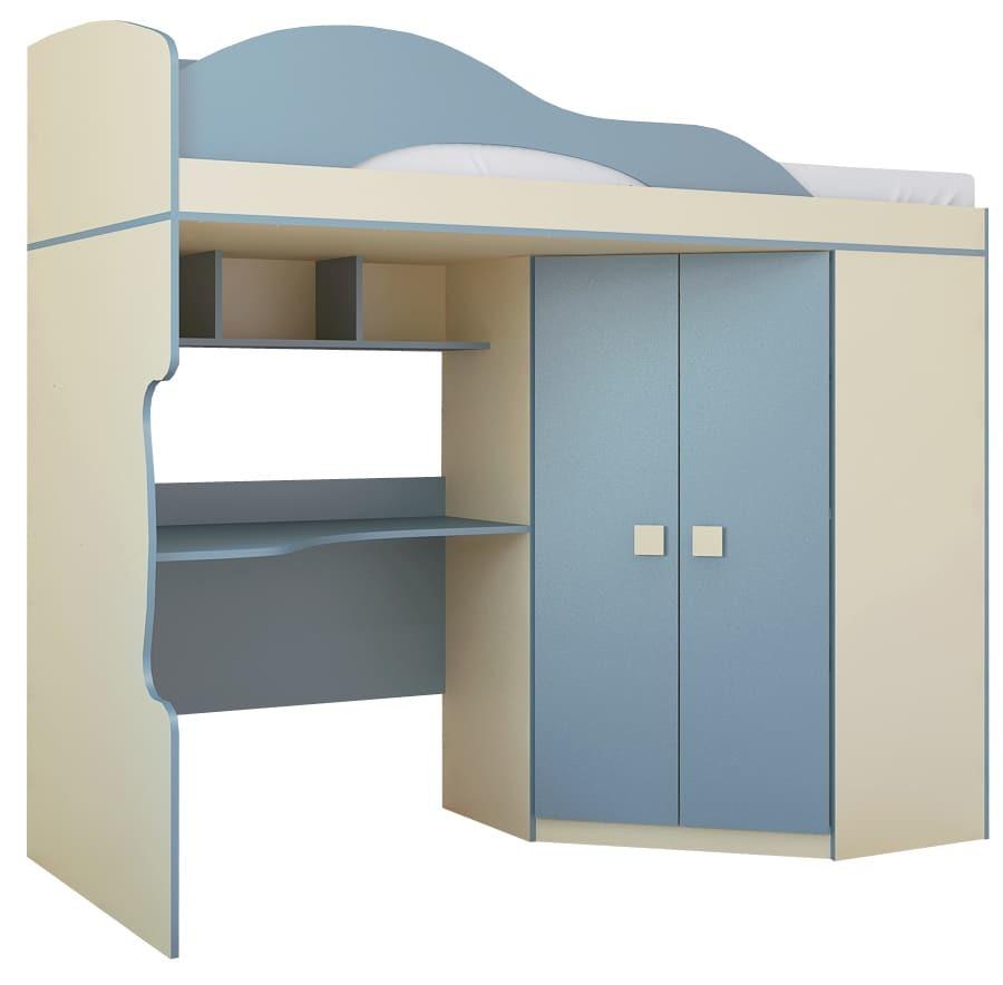 Радуга Кровать 2-й этаж + шкаф