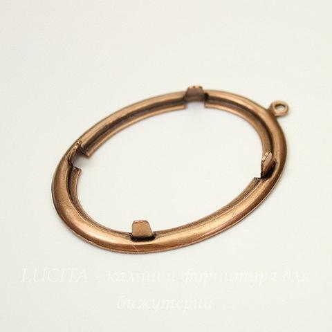 Сеттинг - основа - подвеска для камеи или кабошона 40х30 мм (оксид меди)