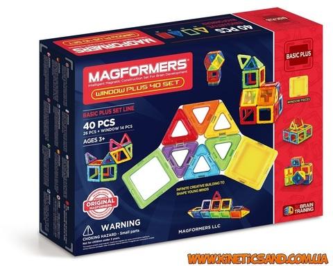 Magformers 40 элементов. Набор Супер 3Д плюс Магформерс