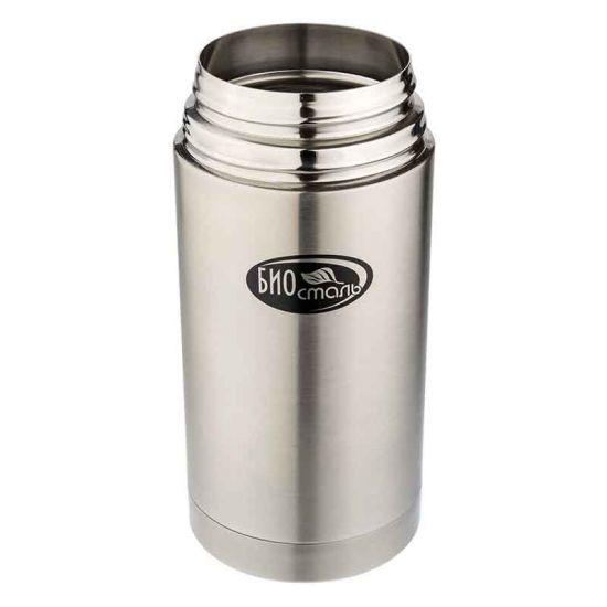 Термос для еды Biostal (0,75 литра) в чехле, стальной*
