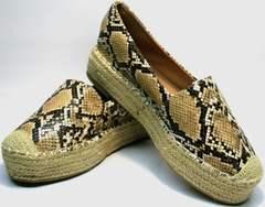 Женские туфли без каблука Lily shoes Q38snake.