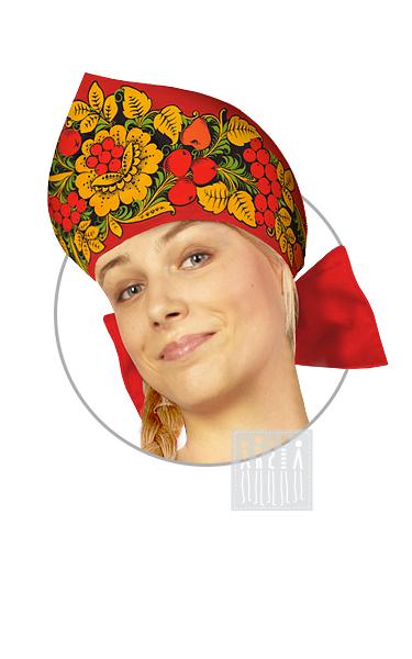 Хохлома Расписной кокошник женский