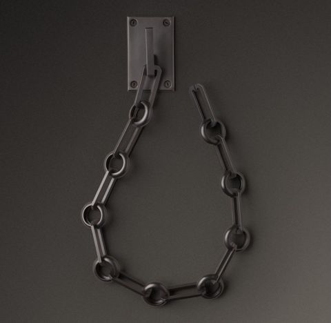 Bayonne Solid Brass Chain Link Tieback - Oil-Rubbed Bronze