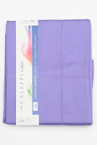 Простыня на резинке 160x200 Сaleffi Raso Tinta Unito с бордюром сатин фиолетовая