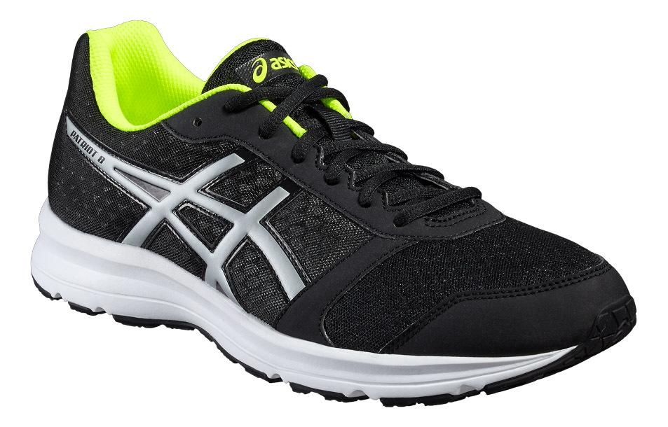 Мужские кроссовки для бега Asics Patriot 8 T619N 9993 черные | Интернет-магазин Five-sport.ru