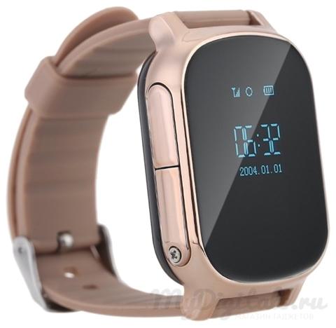 Детские часы GPS трекер Smart Baby Watch T58 золотые