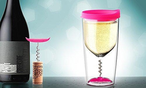 Бокал Asobu Vino opener (0,35 литра), розовый