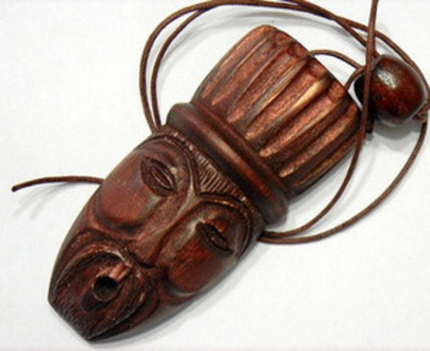 Комус (варган) в деревянном резном чехле ручной работы
