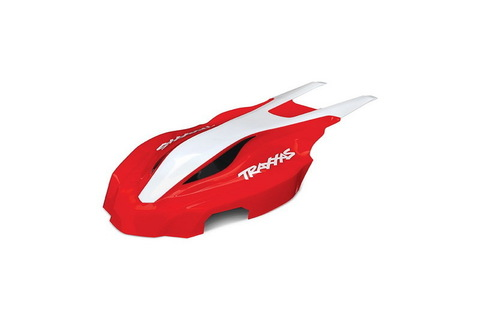 Canopy, front, red/white, Aton